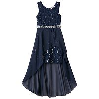 Girls 7-16 & Plus Size Speechless Lace High-Low Maxi Dress
