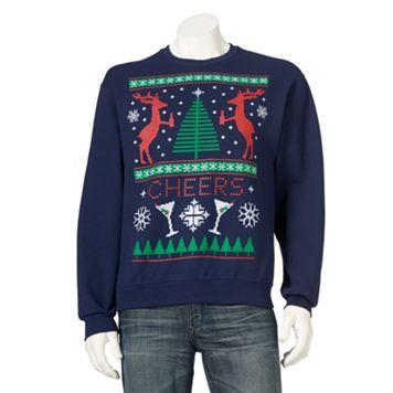 Men's Ugly Christmas Cheers Reindeer Sweatshirt