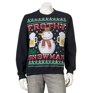 Men's Ugly Christmas Frothy the Snowman Sweatshirt