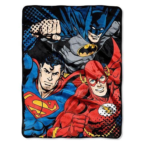 Justice League Trio Throw
