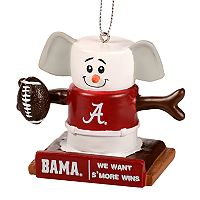Forever Collectibles Alabama Crimson Tide S'more Snowman Christmas Ornament