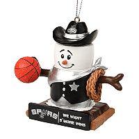 Forever Collectibles San Antonio Spurs S'more Snowman Christmas Ornament