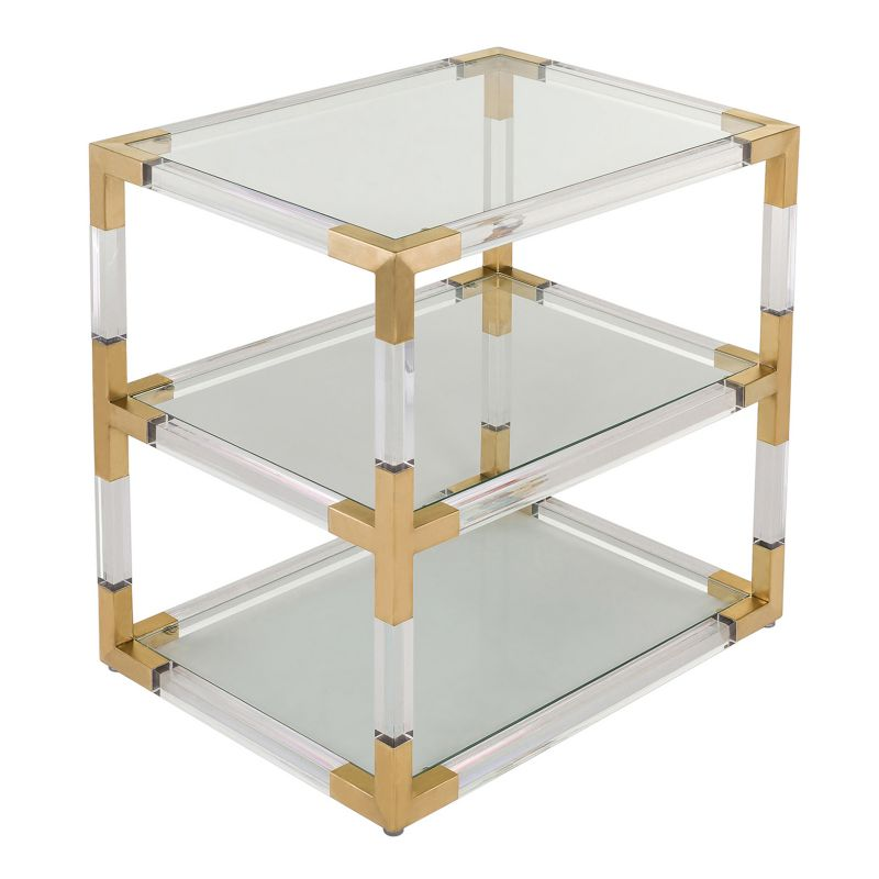 Safavieh Louisa Glass End Table, Brown