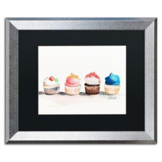 Trademark Fine Art Choose One No Words Silver Finish Framed Wall Art