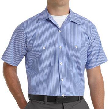 Big & Tall Red Kap Industrial Striped Work Shirt