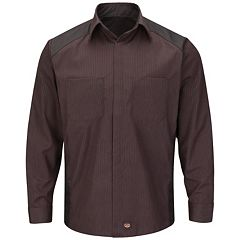 Big & Tall Red Kap Classic-Fit Striped Button-Down Shirt