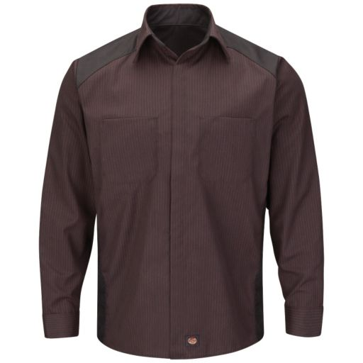 Big & Tall Red Kap Classic-Fit Striped Button-Down Shirt