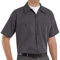 Big & Tall Red Kap Classic-Fit Striped Button-Down Work Shirt