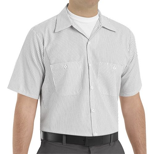 Big & Tall Red Kap Classic-Fit Striped Button-Down Work Shirt