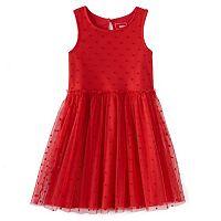 Girls 4-7 SONOMA Goods for Life™ Dotted Velour Tulle Dress