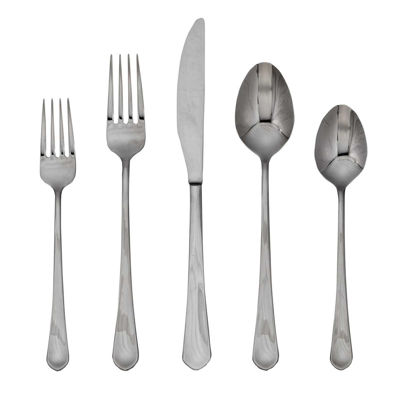 food network clove mirror 45pc flatware set