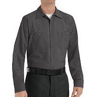 Big & Tall Red Kap Classic-Fit Industrial Button-Down Work Shirt