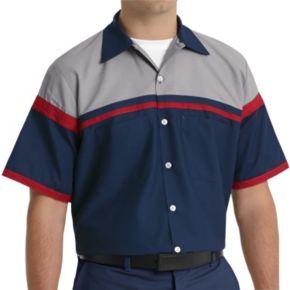 Big & Tall Red Kap Classic-Fit Technician Button-Down Work Shirt