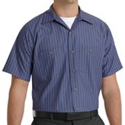 Big & Tall Red Kap Classic-Fit Durastripe® Striped Button-Down Work Shirt