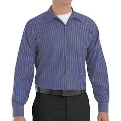 Big & Tall Red Kap Striped Work Shirt