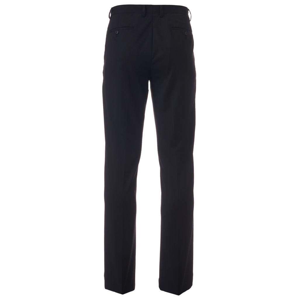 Men's Marc Anthony Slim-Fit Pindot Stretch Wool Flat-Front Suit Pants