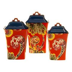 Tracy Porter French Meadows 3 pc Ceramic Canister Set