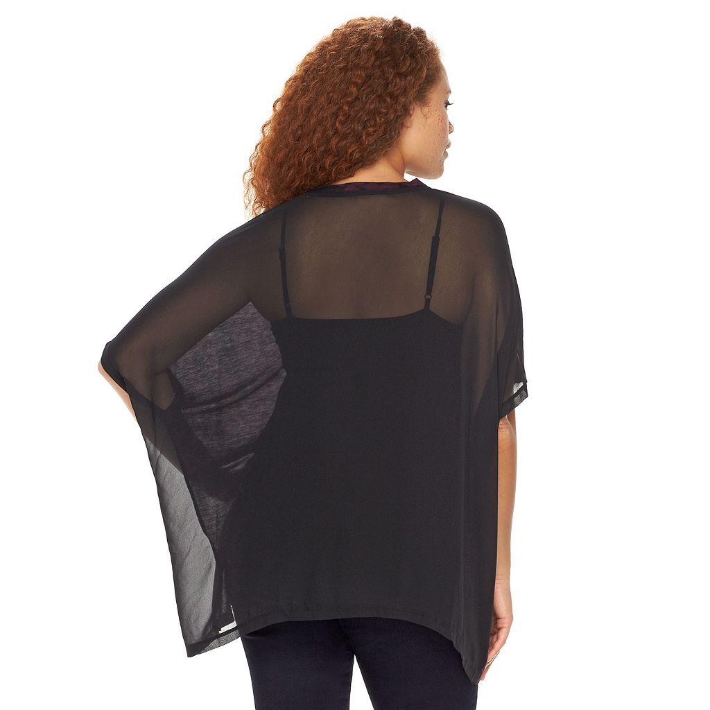 Plus Size Rock & Republic® Tie-Dye Poncho Top