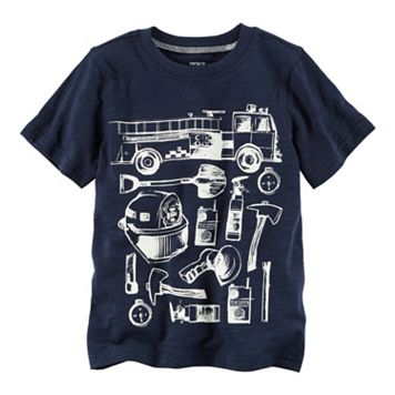 Baby Boy Carter's Firetruck Equipment Graphic Tee