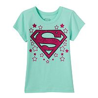 Girls 4-6x DC Comics Supergirl Glitter Tee