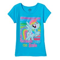 Girls 4-6x My Little Pony Rainbow Dash Glitter Tee