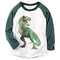 Baby Boy Carter's Raglan Dinosaur T-Rex Graphic Tee