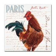 Trademark Fine Art Dans la Ferme Rooster II Canvas Wall Art
