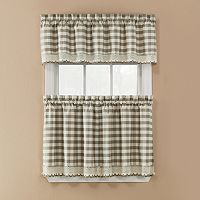 Window Accents Norwalk Plaid Rod Pocket 3-pc. Tier Curtain Set