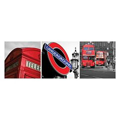 Nexxt Shutter Canvas Prints London Wall Art Set