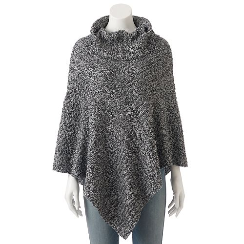 Women's SONOMA Goods for Life™ Cowlneck Cable-Knit Poncho