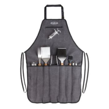 Fire Sense Elite Stainless Steel BBQ Tool & Apron Set