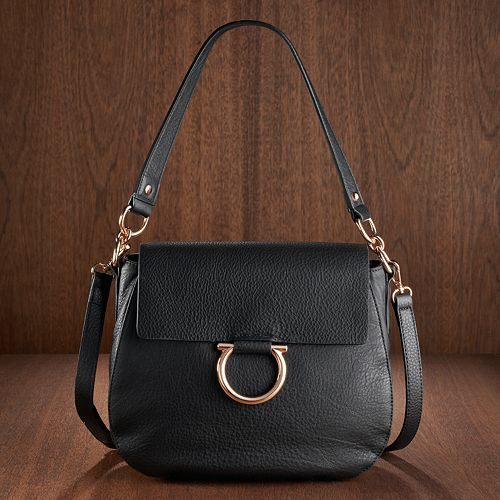 LC Lauren Conrad Runway Collection Leather Saddle Bag