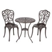 Patio Sense Faustina Bistro Table 3-piece Set
