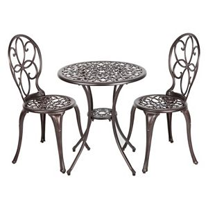 Patio Sense Arria Bistro Table 3-piece Set