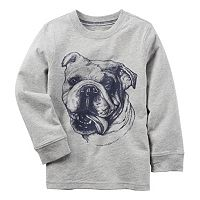 Boys 4-8 Carter's Long Sleeve Bulldog Graphic Tee