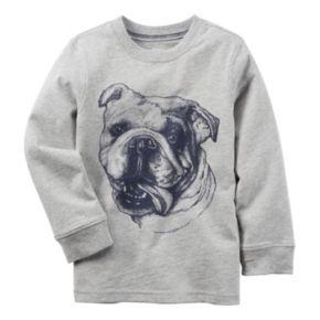 Boys 4-8 Carter's Long Sleeve Bulldog Graphic Tee