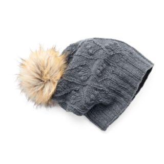 Women's SIJJL Cable-Knit Slouchy Wool Beanie