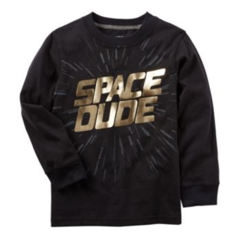 "Boys 4-8 Carter's ""Space Dude"" Foil Graphic Tee"
