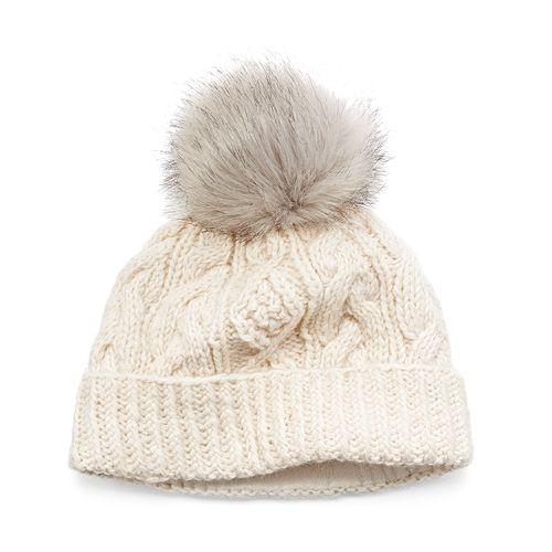 62817914caf Women s SIJJL Faux-Fur Cable-Knit Beanie