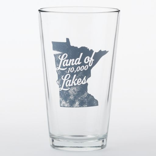"""Land of 10,000 Lakes"" 16-oz. Pint Glass"