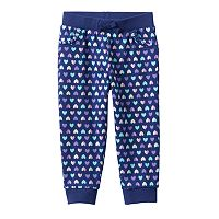 Baby Girl Jumping Beans® Print Ruffled Jogger Pants