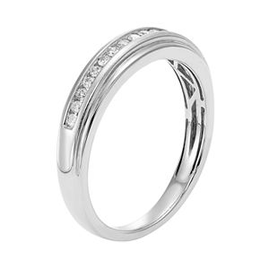 Men's 14k Gold IGL Certified 1/4 Carat T.W. Diamond Wedding Band