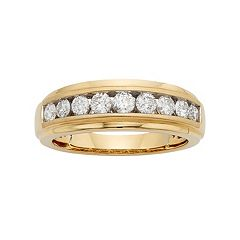 Men's 14k Gold IGL Certified 1 Carat T.W. Diamond Wedding Band