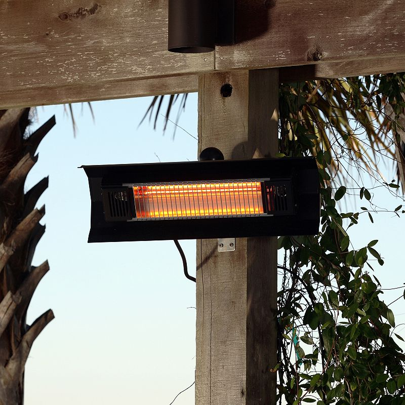 Fire Sense Wall Mounted Infrared Patio Heater, Black