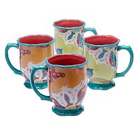 Tracy Porter Scotch Moss 4-pc. Mug Set