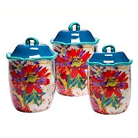 Tracy Porter Scotch Moss 3-pc. Ceramic Canister Set
