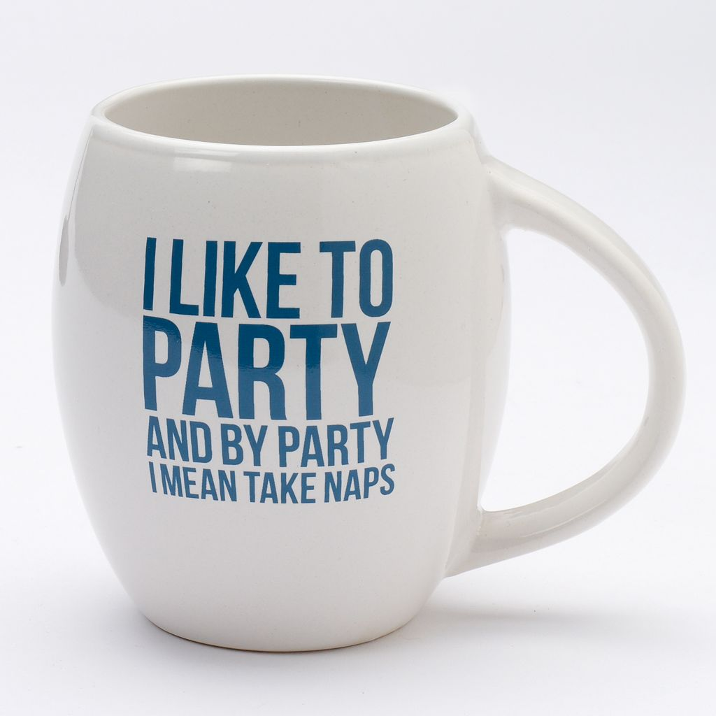 Party and Take Naps 19-oz. Coffee Mug