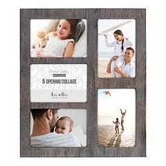 Malden Linear Distressed 5-Opening 4'' x 6'' Collage Frame