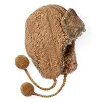 Women's SIJJL Cable-Knit Trapper Hat