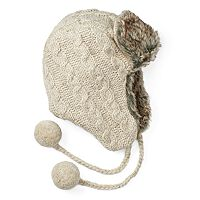 Women's SIJJL Cable-Knit Trapper Hat